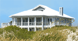 Beach/Coastal Style Home with Metal Roofing